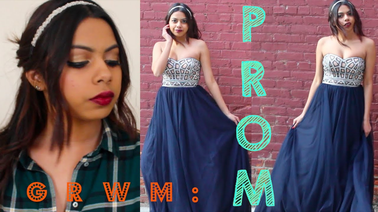 Get prom ready with me hair makeup dress - Get Ready With Me Prom 2015 Ravi Makeup Hair Dress