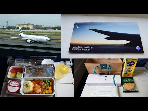 Cathay Pacific Economy Class Short Haul Meals and Views