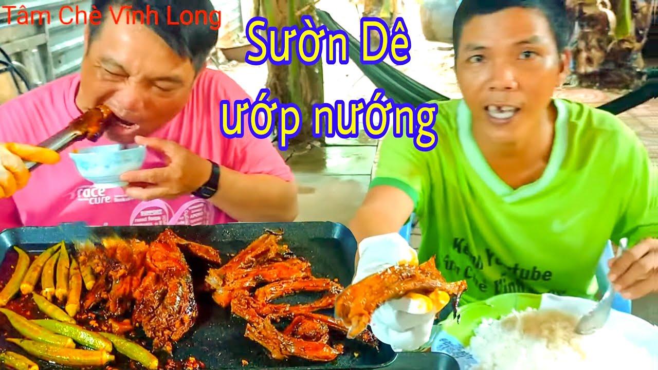 Ăn sườn Dê nướng Thánh Ròm còn hẹn, ăn gà muối của LêNa Đào TV gởi về từ Sài Gòn lTâm Chè Vĩnh Long