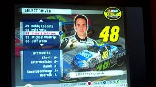 All NASCAR 07 Drivers/Cars/Paint Schemes (Nextel Cup)