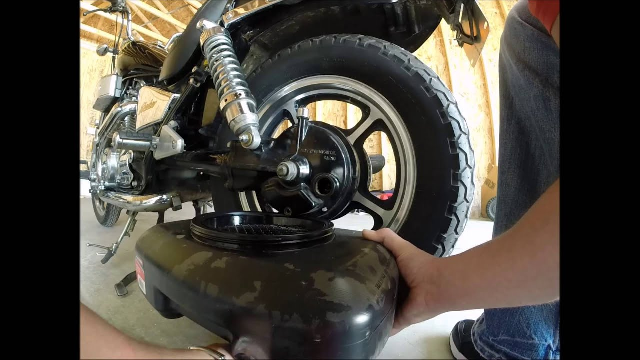 honda shadow drive shaft oil change youtube