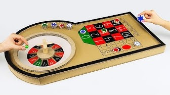 How to Make Mini Casino Roulette Game from Cardboard at Home