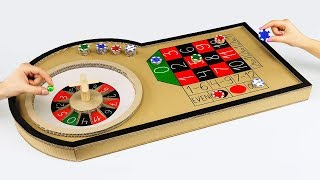 How to Make Mini Casino Roulette Game from Cardboard at Home(, 2017-09-13T07:34:02.000Z)
