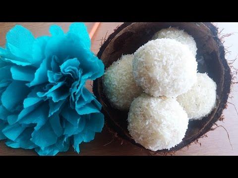 Easy 3 Min NO COOK coconut laddoo II Coconut Fudge balls II