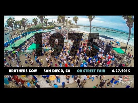 """Brothers Gow - PRO-SHOT HD MULTI-ANGLE WITH DRONE -  """"1975""""  - Ocean Beach Street Fair"""