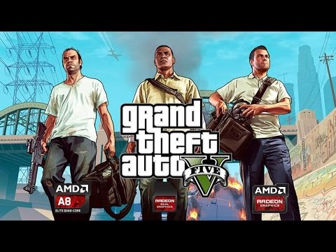 Grand Theft Auto V Benchmark On AMD A-SERIES GODAVARI A8-7670K AND R7 250 Dual Graphics Gameplay