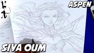 Siya Oum drawing Aspen from Fathom