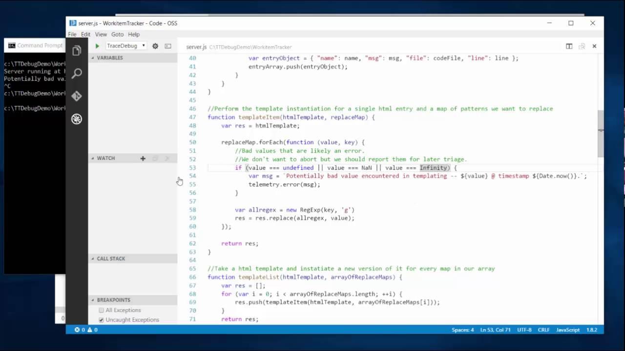 Javascriptnode Time Travel Debugger Preview Demo Youtube
