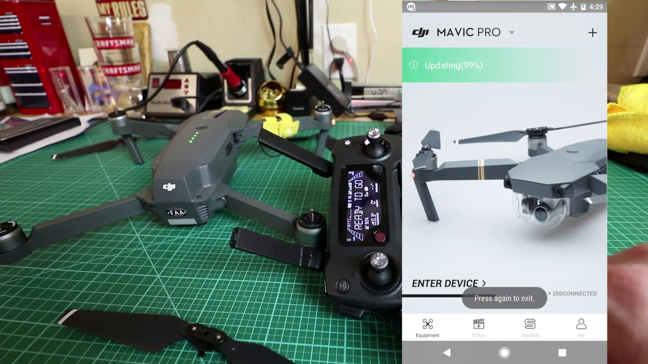 dji mavic remove remove firmware update message
