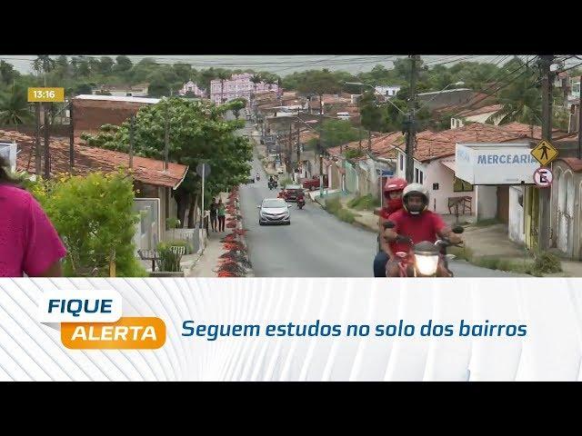 Seguem estudos no solo dos bairros do Pinheiro, Mutange, Bebedouro  e Bom Parto
