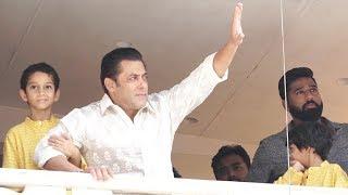 Salman Khan Waves EID MUBARAK to Fans | RACE 3 Success