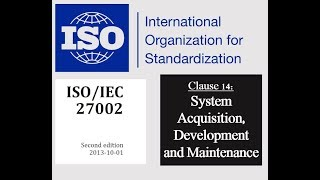 ISO 27002 - Control 14.1.1 - Information Security Requirements Analysis and Specifications