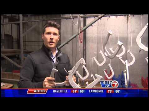 """St.Pierre USA Horseshoes: WHDH """"Made in Massachusetts: Horseshoes"""""""