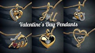 Gold Pendants best valentines day gift