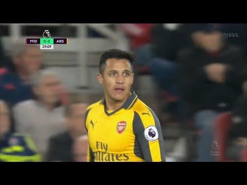 Alexis Sanchez vs Middlesbrough | 17/4/2017