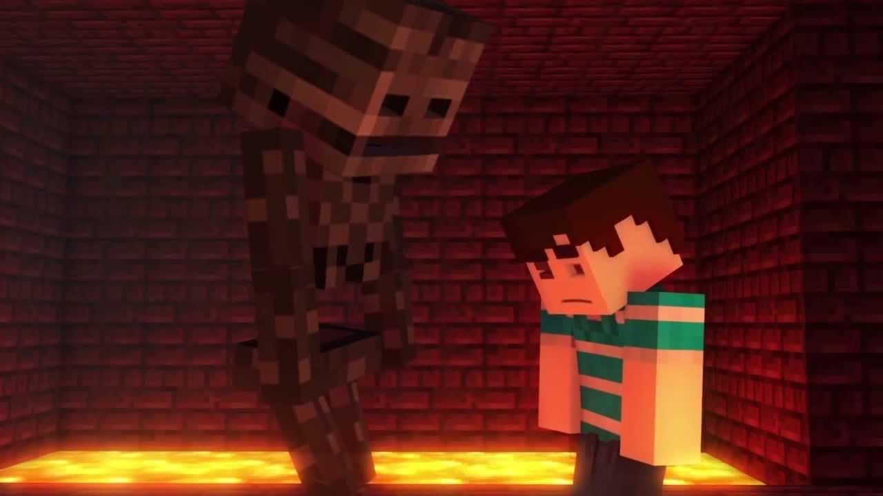 Minecraft Animation Wallpaper Wither Skeleton Encounter Minecraft Animation Youtube