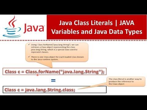 Java Class Literals | Java Tutorial