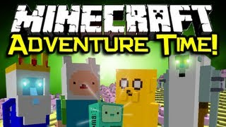 Minecraft ADVENTURE TIME MOD Spotlight! - Visit The Land Of Ooo! (Minecraft Mod Showcase)