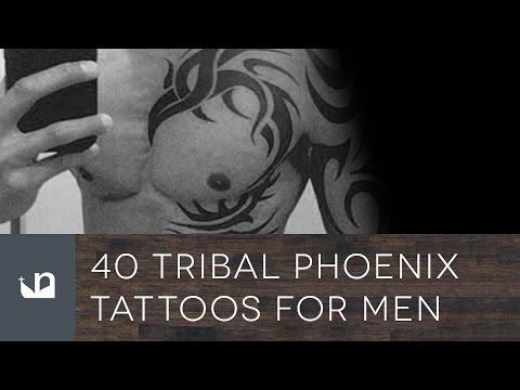40 Tribal Phoenix Tattoos For Men