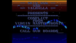 SKID ROW - VALHALLA: CRACK INTRO (CONFLICT: THE MIDDLE EAST POLITICAL SIMULATOR 1990)