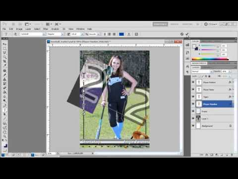 how to create sports trading cards with photoshop