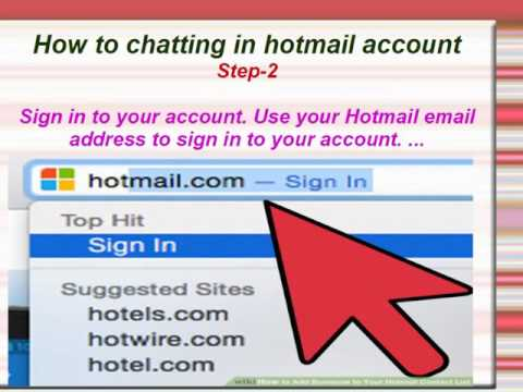 How To People Chat With Hotmail Account/People Chat With Hotmail Acount