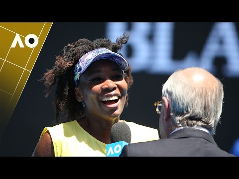 Venus Williams on court interview (2R) | Australian Open 2017