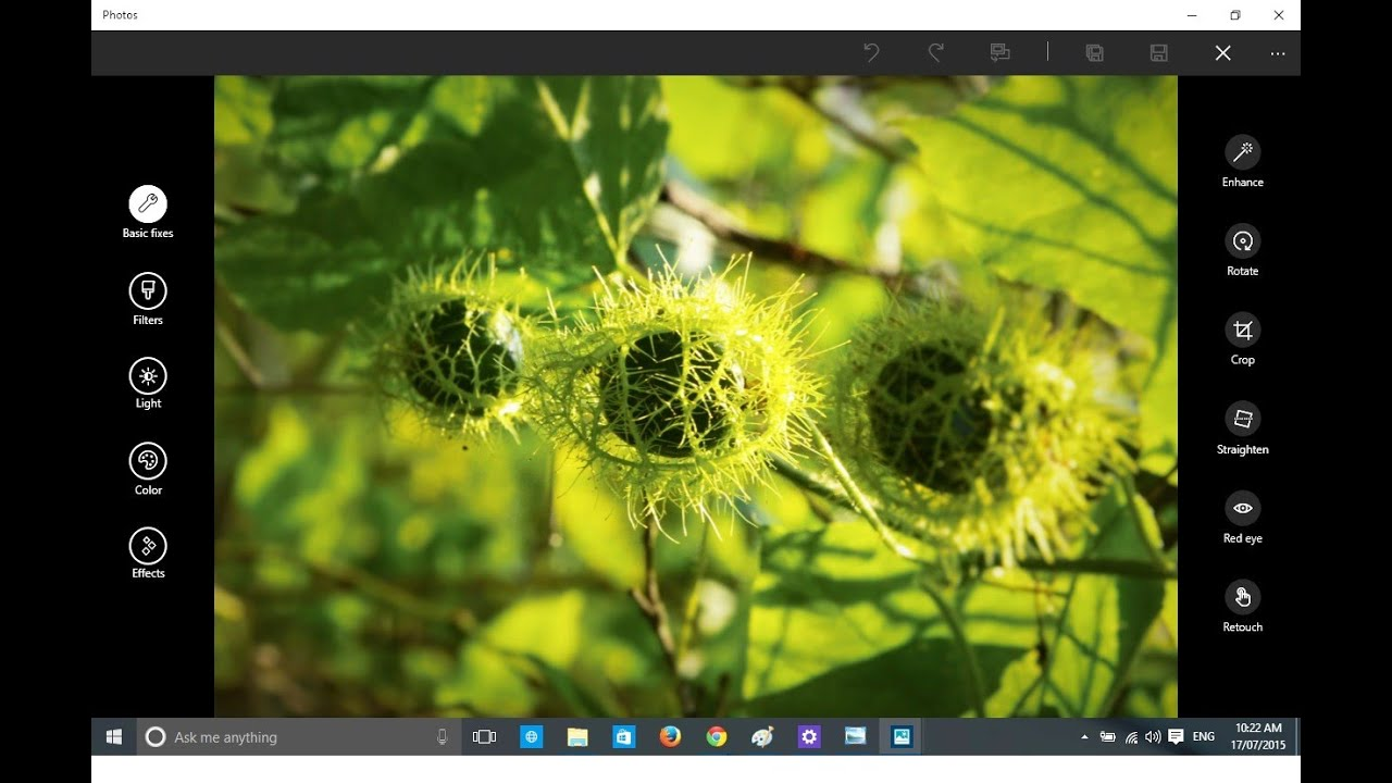 Edit or Retouch RAW/JPEG Images Using Windows 10 Built-in App Photos - YouTube