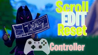 How To SCROLL WHEEL RESET On CONTROLLER *EDIT 10X FASTER* (Fortnite Season X Editing Tips & Glitch)