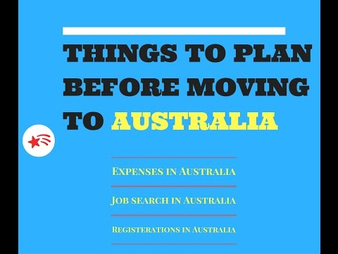 Things to plan before moving to Australia| Expenses in Australia| Immigration