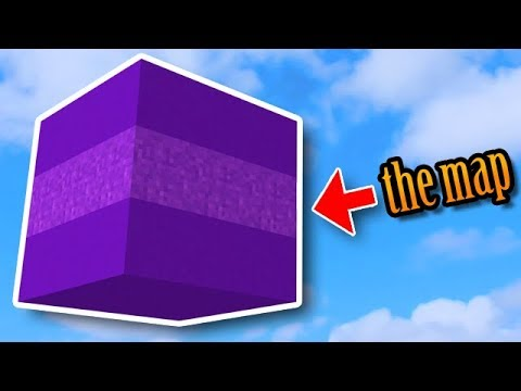 Minecraft Map In A Cube