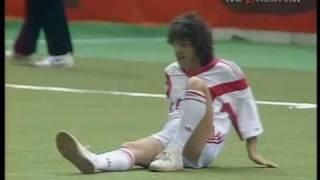 О.Газманов играет в футбол. 1991г