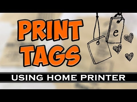 Print Any Text You Want On Tags Using Your Home Printer For Junk Journals