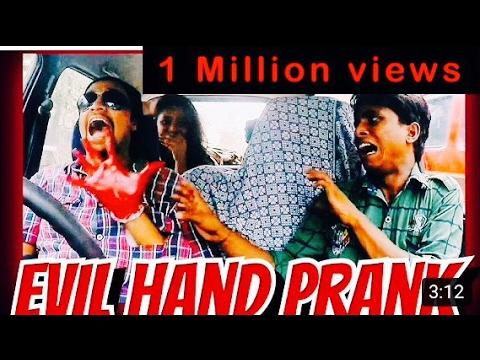 EVIL HAND PRANK | Almost died | top scary pranks in India | Funny pranks in  india