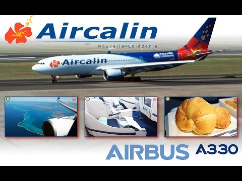 MUST SEE! A330 Aircalin Paradise Bird Business Class Noumea to Sydney! [AirClips full flight series]