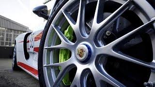 Porsche 918 Spyder Weissach with Gloss Hot Rod Red Decals
