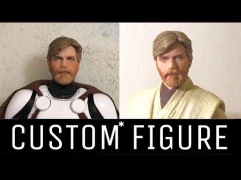 Custom Star Wars Black Series Obi Wan Kenobi Revenge Of The Sith Headswap Youtube