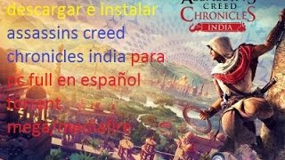 Vídeo Assassin's Creed Chronicles: India