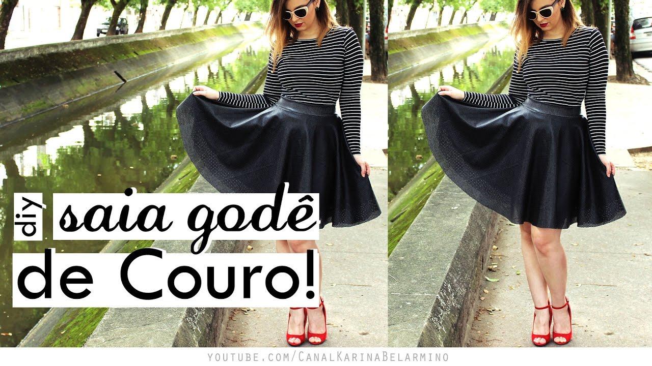 777265736d DIY Saia Godê de COURO!