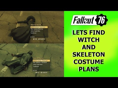 Fallout 76 Lets find the Witch and Skeleton costume PLANS