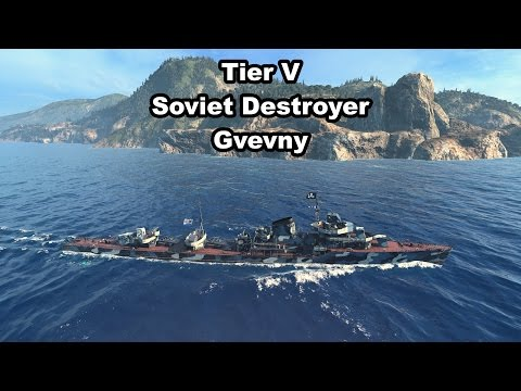 Tier V Soviet Destroyer Gvevny Review and commentary 1440p
