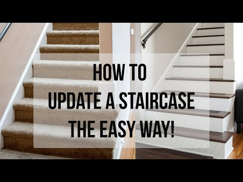 How To Update A Staircase The Easy Way