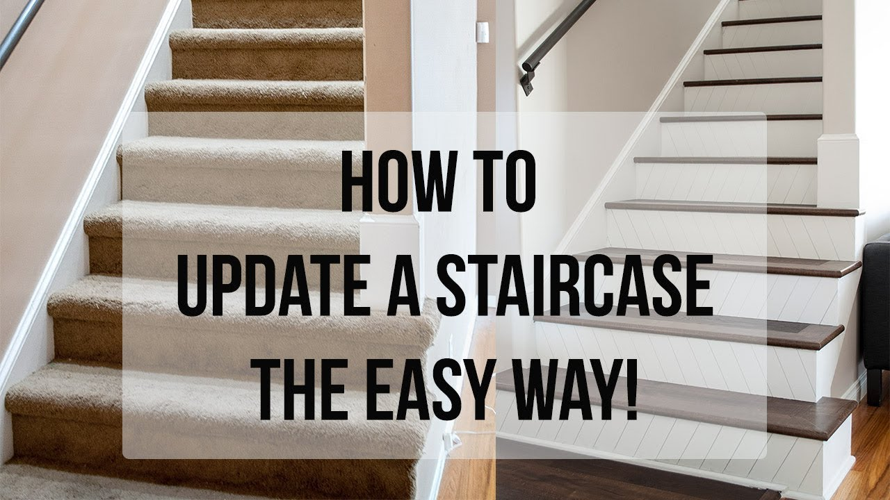 How To Update A Staircase The Easy Way Youtube