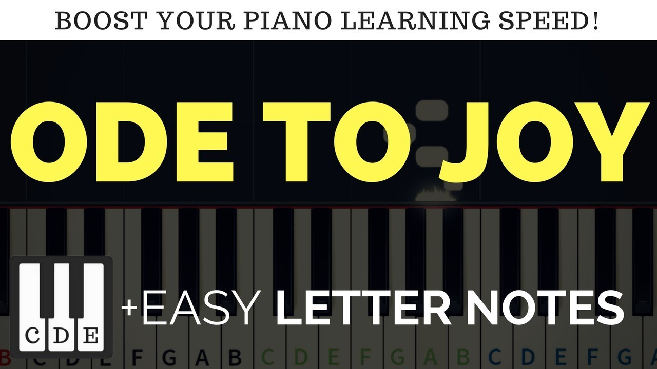 Ode to Joy – easy keyboard notes – beethoven