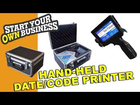 MULTIPURPOSE BATCH CODING AND PRINTING MACHINE - HAND HELD HP Inkjet FULL TUTORIAL