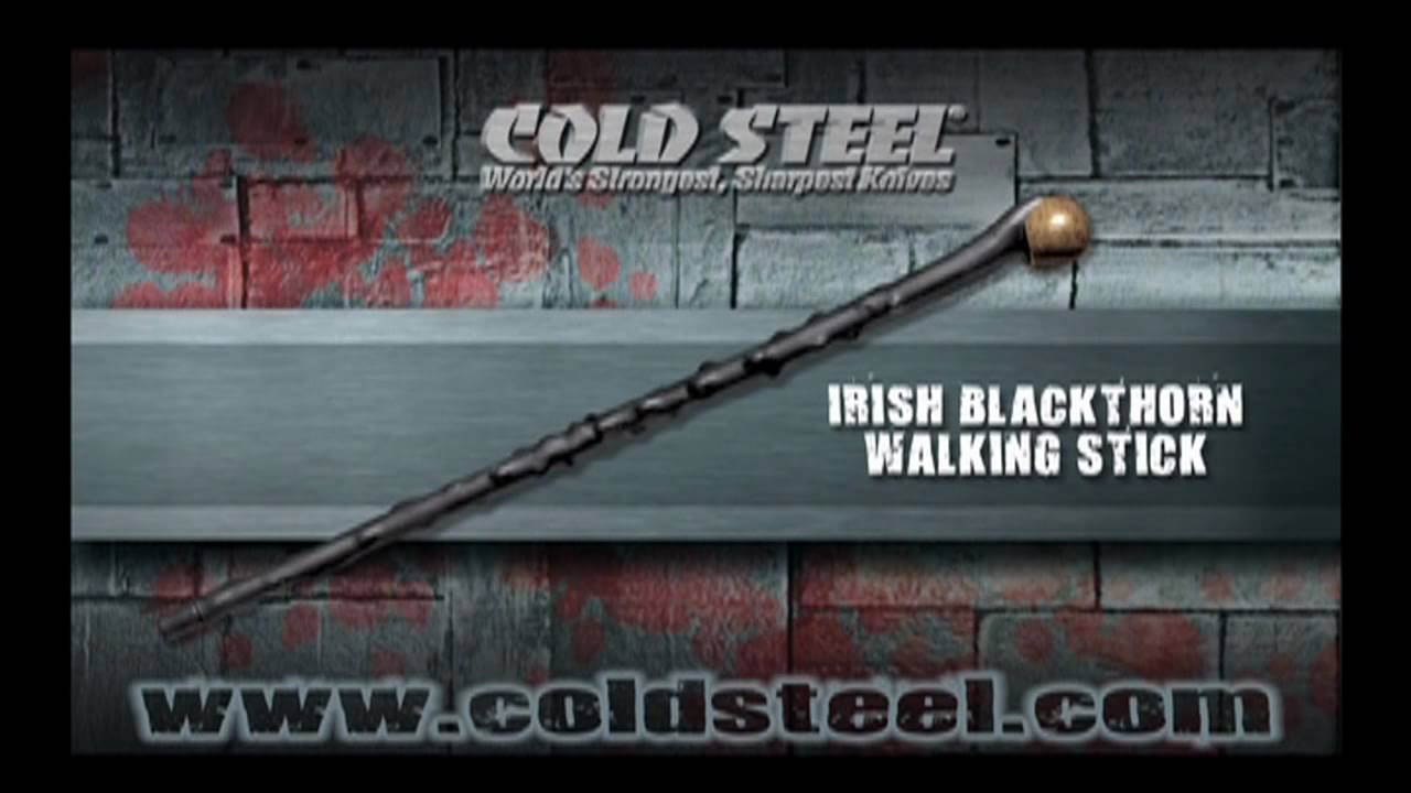 Irish Blackthorn Walking Stick - YouTube Stick Man Walking