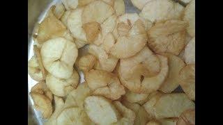Maravalli kilangu chips    மரவள்ளி கிழங்கு சிப்ஸ்   Tapioca chips recipe in tamil