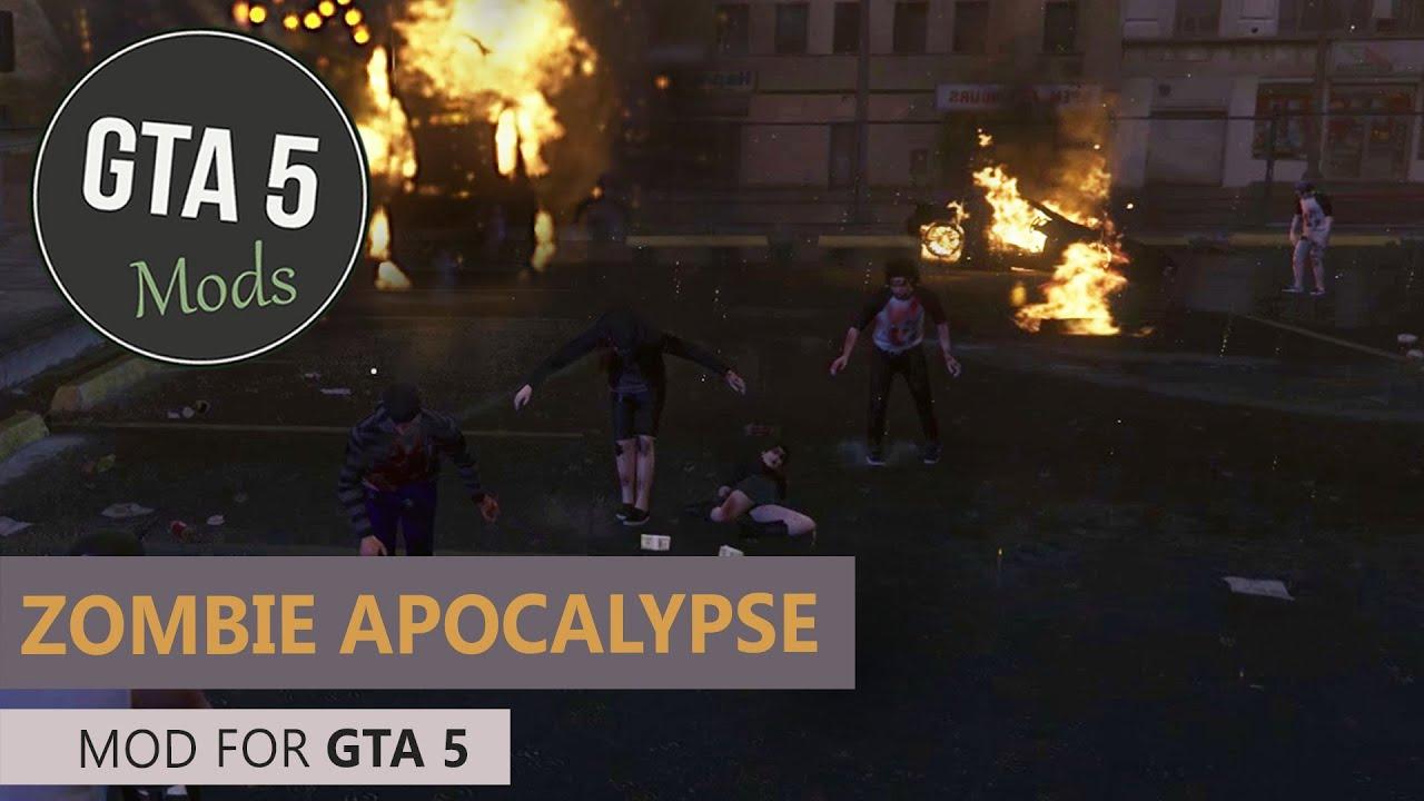 GTA 5 PC - Zombie Apocalypse Mod [ZombieZ V + Blackout Mod]