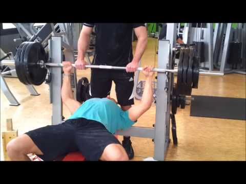 Tasso 160kg Bankdrcken Power-Athletics