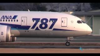 """"""" 美しき茜空と熊本空港を離陸する787 """" All Nippon Airways(ANA) Boeing787-8 Dreamliner JA824A"""